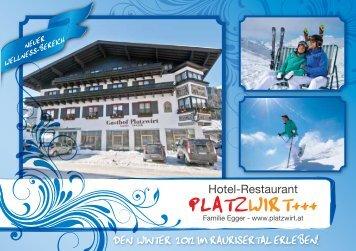 Hotelprospekt Winter - Platzwirt