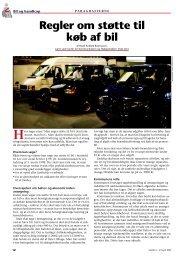 Regler om støtte til køb af bil - Hjælpemidler