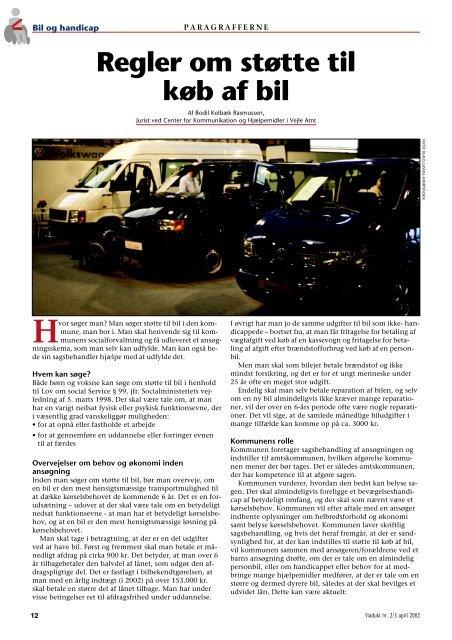 927b4179 Regler om støtte til køb af bil - Hjælpemidler