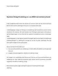 Styrelsens förslag till utdelning med motiverat yttrande - PostNord