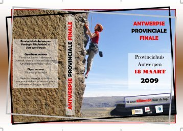 ANTWERPSE PROVINCIALE FINALE Provinciehuis Antwerpen 18 ...