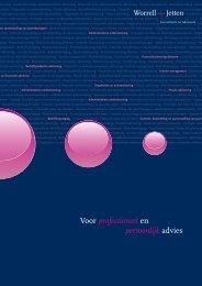 Bekijk onze nieuwe brochure - Worrell & Jetten