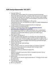 NJK bestyrelsesmøde 10/2 2011