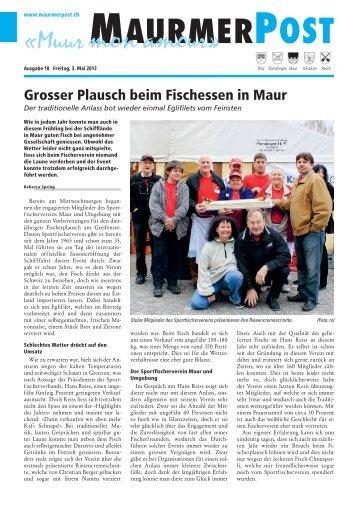 Ausgabe 18 vom 3. Mai 2013 [PDF, 12.6 MB] - Maurmer Post