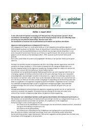 Editie: 1 maart 2013 In alle stilte heeft AV Spiridon woensdag jl (27 ...