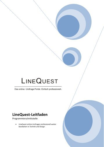 Download - LineQuest. Das online Umfrage Portal