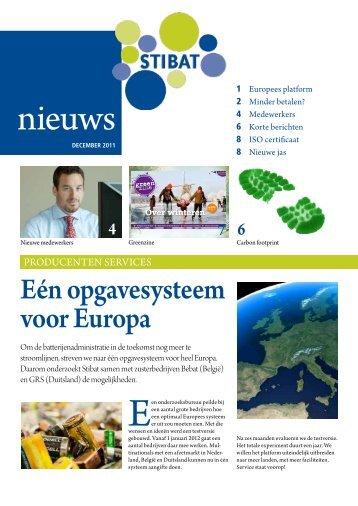 Stibat Nieuws nr. 2, december 2011 - Producenten & Importeurs