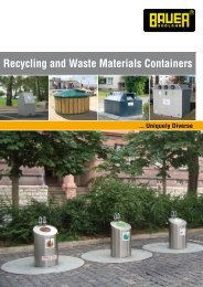 Recycling and Waste Materials Containers - Bauer Gmbh