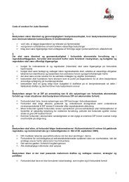 Code of conduct for Judo Danmark 1. Bestyrelsen sikrer åbenhed og ...