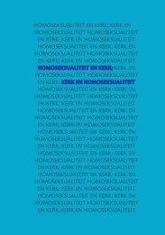HOMOSEKSUALITEIT EN KERK; KERK EN ... - ADV Limburg