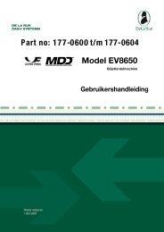 Model EV8650 Part n o: 1 77-0600 t/m 177-0604