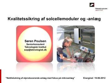 Kvalitetssikring af solcellemoduler og - Energinet.dk