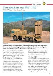 Artikel om nytt närluftvärn med IRIS-T SLS ( 2013)