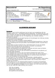 weekbrief 20121214 14 dec. 2012.pdf - De Regenboog