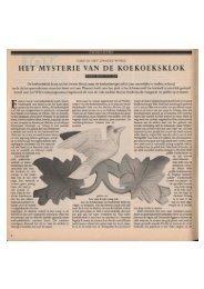 Het Mysterie van de Koekoeksklok - Marten Minkema