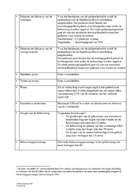Uitwerkingsplan EKP Toelichting - Gemeente Haarlem