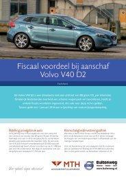 Fiscaal voordeel bij aanschaf Volvo V40 D2 - Buitenweg