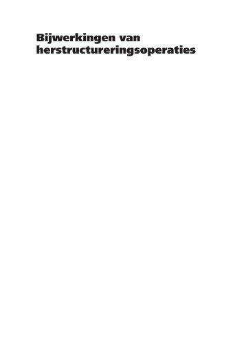 Rapport - Bijwerkingen van herstructureringsoperaties - KKS