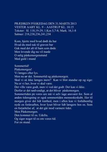 Download prædiken søndag den 31. marts påskedag 2013