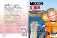 mission:sthlm . jUni . 2011 - Stockholms Stadsmission