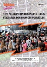 Plaquette 1ère affectation des inspecteurs stagiaires des finances ...