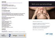 Well-come spa behandlinger - Well-come fitness