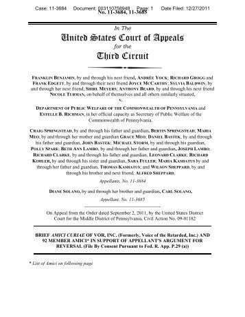 Amicus Curiae brief - VOR