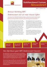 Nieuwsbrief MFC-2. - Plaatselijk Belang Dedemsvaart