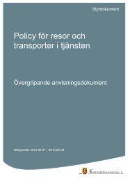 Policy för resor och transporter i tjänsten.pdf - Katrineholms kommun