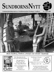 Maria Sandberg, Hobborn, arbetade som volontär i Kambodja - S-info