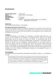 A - Ontwerp Gemeentelijk Verkeer- en Vervoerplan - Raad ...
