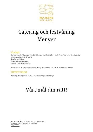 Catering Meny - Kvartersmenyn.com