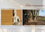 brochure leergang - Centrum voor Levensfilosofie