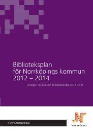 Biblioteksplan för Norrköpings kommun 2012-2014