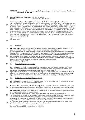 Motie CDA: oproep tot onderzoek naar Caparis NV + verslag van ...