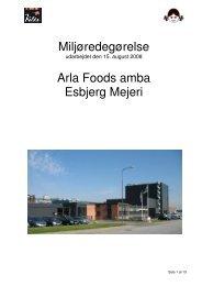 Miljøredegørelse fra Esbjerg Mejeri