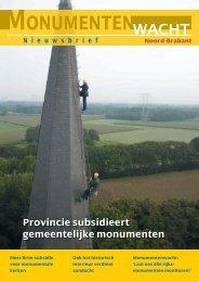 Nieuwsbrief juni 2009 - Monumentenwacht Noord-Brabant