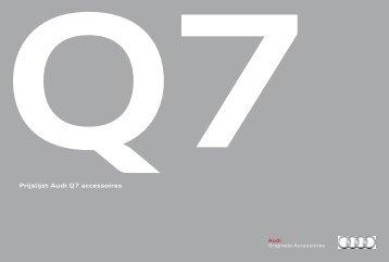 Prijslijst Audi Q7 accessoires
