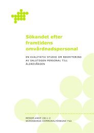Sökandet efter framtidens omvårdnadspersonal - Skaraborgs ...