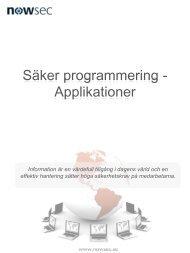 Säker programmering - Applikationer - Nowsec