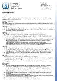 Huishoudelijk regelement - Vereniging Sliedrechtse Ondernemingen