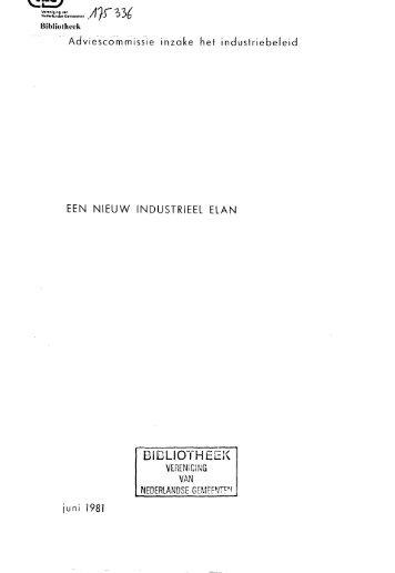 Een nieuw industrieel elan - Vereniging van Nederlandse Gemeenten