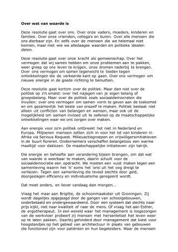 'Over wat van Waarde is' (pdf) - PvdA