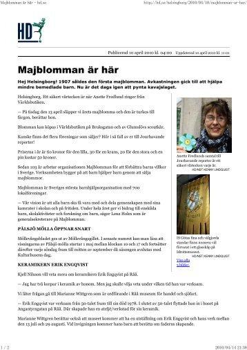 Majblomman ar har - hd.se - So-net