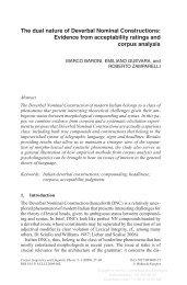 The dual nature of Deverbal Nominal Constructions ... - clic-cimec