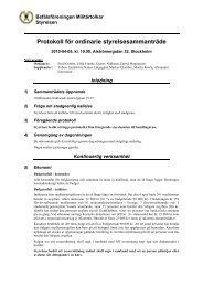 Protokoll för ordinarie styrelsesammanträde - Befälsföreningen ...