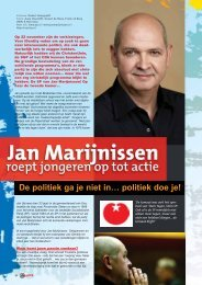 De politiek ga je niet in… politiek doe je! - Weblog Jan Marijnissen