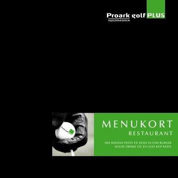 MENUKORT - Proark golf