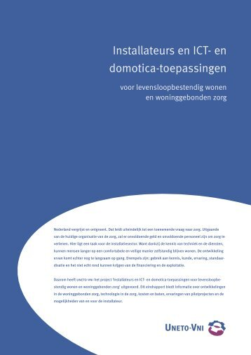 Installatie, ICT en Domotica bij levensloopbestendig wonen