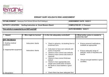 risk assessment and young people 5 risk assessment for a young person the management of health and safety at  regulations 1999 impose specific duties on the employer with regard to young.